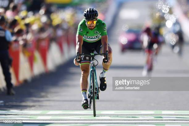 Arrival / Peter Sagan of Slovakia and Team Bora Hansgrohe Green Sprint Jersey / during the 105th Tour de France 2018 Stage 14 a 188km stage from...