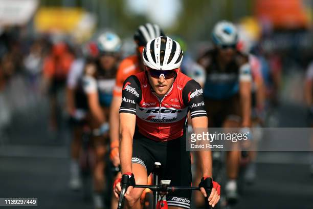 Arrival / Peter Stetina of The United States and Team Trek Segafredo / during the 99th Volta Ciclista a Catalunya 2019 Stage 6 a 1691km stage from...