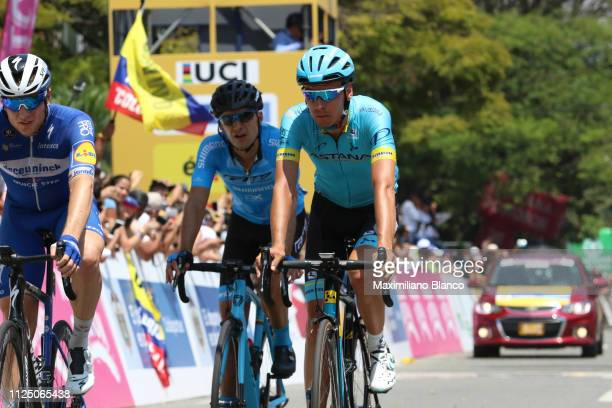 Arrival / Petr Vakoc of Czech Republic and DeceuninckQuickstep Team / Jan Hirt of Czech Republic and Astana Pro Team / during the 2nd Tour of...