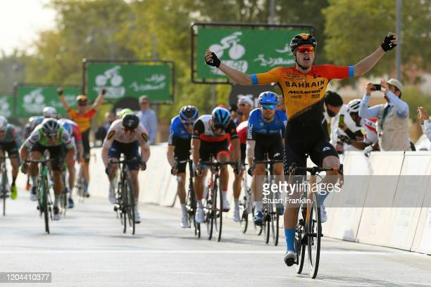Arrival / Phil Bauhaus of Germany and Team Bahrain-Mclaren / Celebration / Reinardt Janse Van Rensburg of South Africa and Team NTT Pro Cycling /...