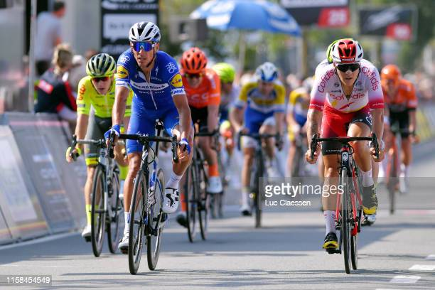 Arrival / Philippe Gilbert of Belgium and Team Deceuninck - Quick-Step / Hugo Hofstetter of France and Team Cofidis Solutions Credits / during the...