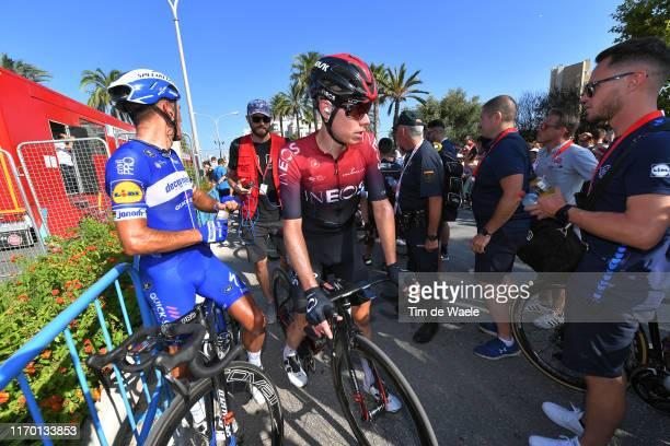 Arrival / Philippe Gilbert of Belgium and Team Deceuninck-QuickStep / David de la Cruz of Spain and Team Ineos / during the 74th Tour of Spain 2019,...