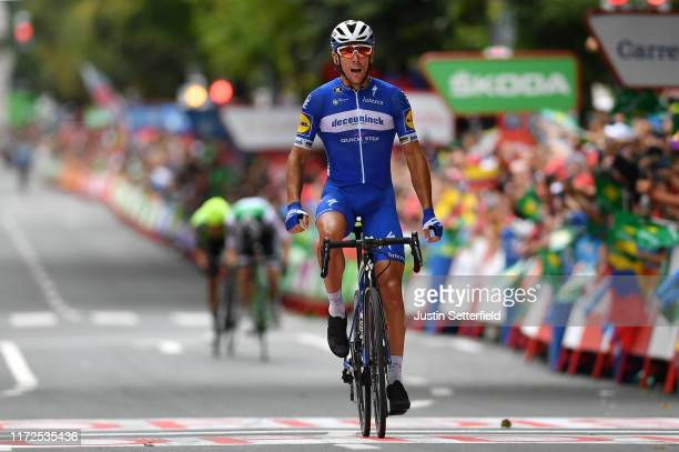 Arrival / Philippe Gilbert of Belgium and Team Deceuninck-QuickStep / Celebration / during the 74th Tour of Spain 2019, Stage 12 a 171,4km stage from...
