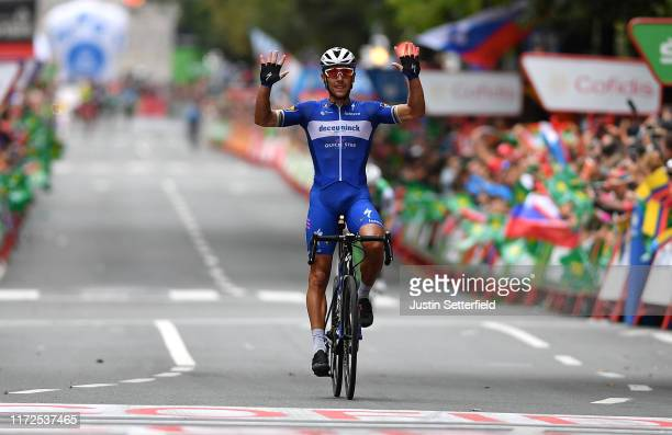 Arrival / Philippe Gilbert of Belgium and Team DeceuninckQuickStep / Celebration / during the 74th Tour of Spain 2019 Stage 12 a 1714km stage from...