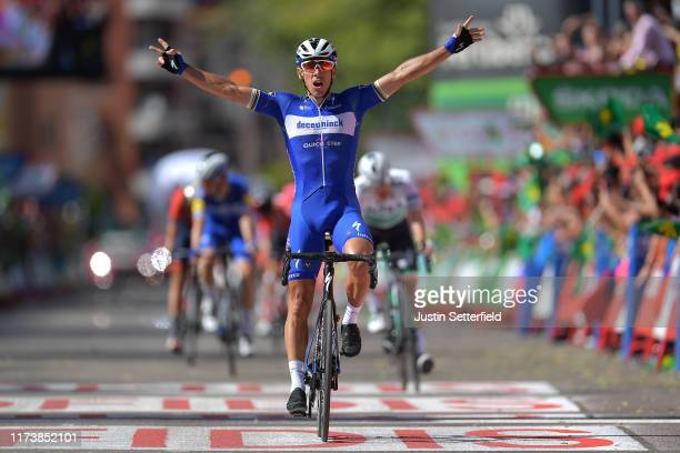 Arrival / Philippe Gilbert of Belgium and Team Deceuninck-QuickStep / Celebration / during the 74th Tour of Spain 2019, Stage 17 a 219,6km stage from...