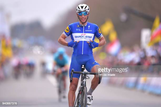 Arrival / Philippe Gilbert of Belgium and Team Quick-Step Floors / Celebration / during the 102nd Tour of Flanders 2018 - Ronde Van Vlaanderen a...