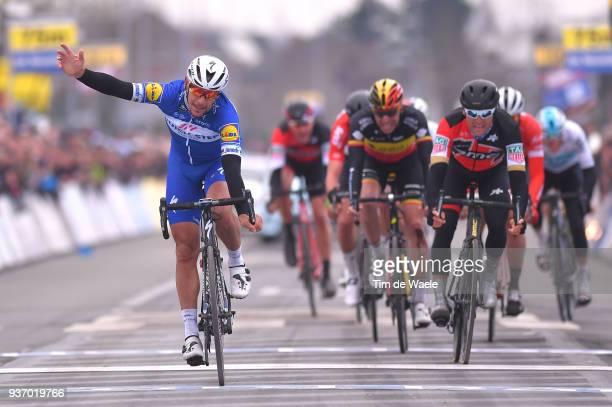 Arrival / Philippe Gilbert of Belgium and Team Quick-Step Floors / Celebration / Greg Van Avermaet of Belgium and Team BMC Racing Team / Oliver...
