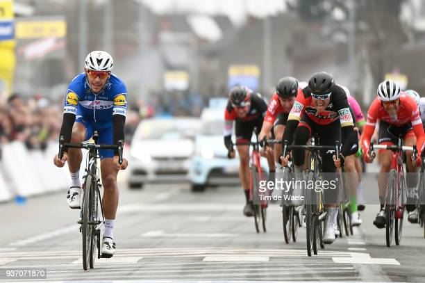 Arrival / Philippe Gilbert of Belgium and Team Quick-Step Floors / Celebration / Greg Van Avermaet of Belgium and Team BMC Racing Team / during the...