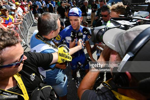 Arrival / Philippe Gilbert of Belgium and Team Quick-Step Floors / Press Media / during the 105th Tour de France 2018, Stage 16 a 218km stage from...