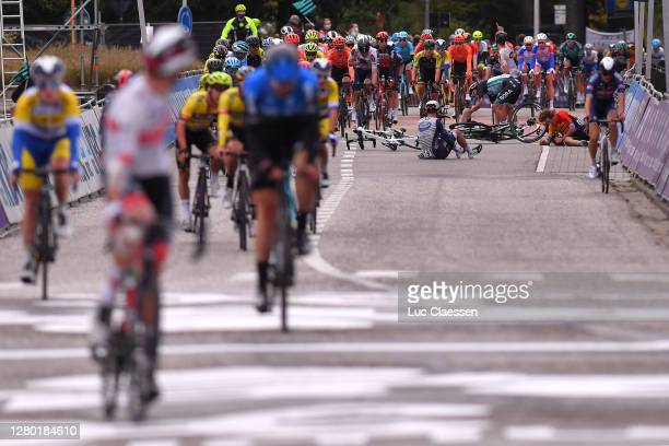 Arrival / Pierre Barbier of France and Team Nippo Delko Provence / Rudiger Selig of Germany and Team Bora - Hansgrohe / Ivan Garcia Cortina of Spain...