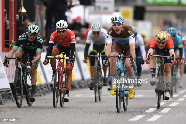 Arrival / Pierre Latour of France and Team AG2R La Mondiale / Celebration / during the 98th Volta Ciclista a Catalunya 2018, Stage 7 a 154,8km stage...