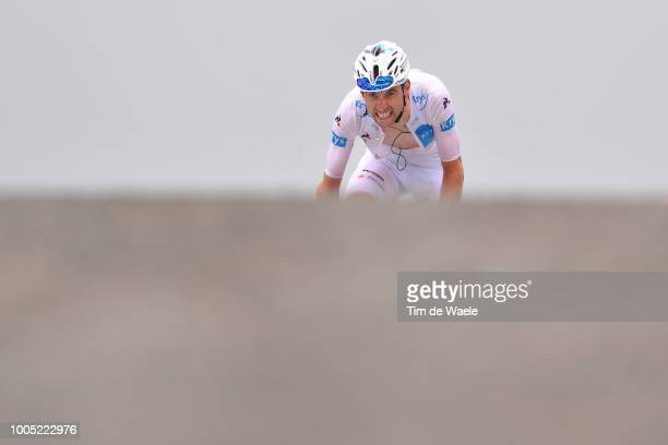 Arrival / Pierre Latour of France and Team AG2R La Mondiale White Best Young Rider Jersey / during the 105th Tour de France 2018, Stage 17, a 67km...