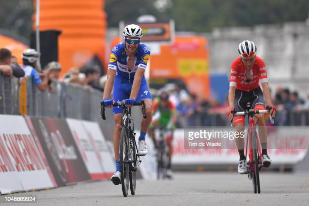 Arrival / Pieter Serry of Belgium and Team Quick Step Floors / during the 99th Milano Torino 2018 a 200km race from MagentaMilan to TorinoSuperga...