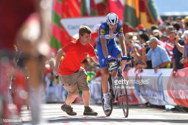 Arrival / Pieter Serry of Belgium and Team QuickStep Floors / during the 73rd Tour of Spain 2018 Stage 13 a 1748km stage from Candas Carreno to Valle...
