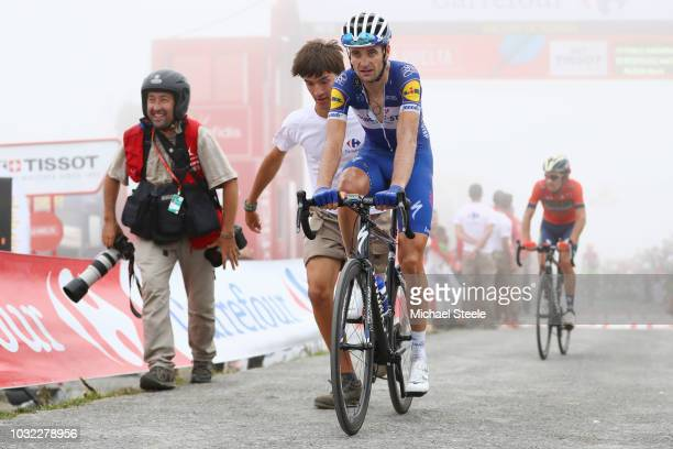 Arrival / Pieter Serry of Belgium and Team QuickStep Floors / during the 73rd Tour of Spain 2018 Stage 17 a 157km stage from Getxo to Alto del Balcon...