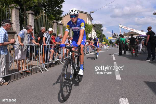 Arrival / Pieter Serry of Belgium and Team QuickStep Floors / during the 70th Criterium du Dauphine 2018 Stage 2 a 181km stage from Montbrison to...