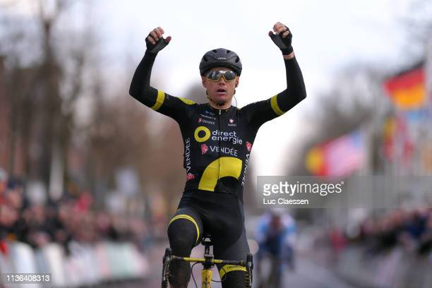 Arrival / Pim Ligthart of The Netherlands and Team Direct Energie / Celebration / during the 57th Ronde van Drenthe Men Elite a 2176km race from...
