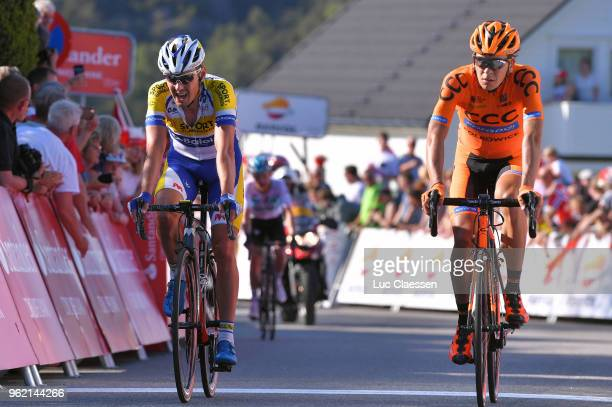 Arrival / Preben Van Hecke of Belgium and Team Sport VlaanderenBaloise / Michal Schlegel of Czech Republic and Team CCC Sprandi Polkowice / during...