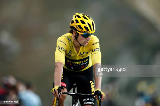 Arrival / Primoz Roglic of Slovenia and Team Jumbo - Visma Yellow Leader Jersey / during the 107th Tour de France 2020, Stage 17 a 170km stage from...