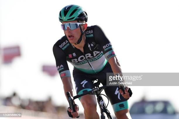 Arrival / Rafal Majka of Poland and Team Bora - Hansgrohe / during the 6th UAE Tour 2020, Stage 3 a 184km stage from Al Qudra Cycle Track to Jebel...