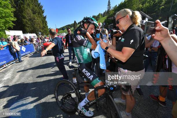 Arrival / Rafal Majka of Poland and Team Bora Hansgrohe / Injury /Crash / during the 102nd Giro d'Italia 2019 Stage 20 a 194km stage from Feltre to...