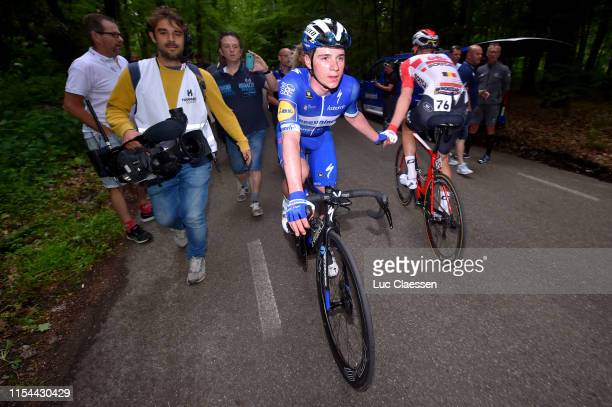 Arrival / Remco Evenepoel of Belgium and Team Deceuninck Quick Step / Celebration / Tim Wellens of Belgium and Team Lotto Soudal / during the 4th...