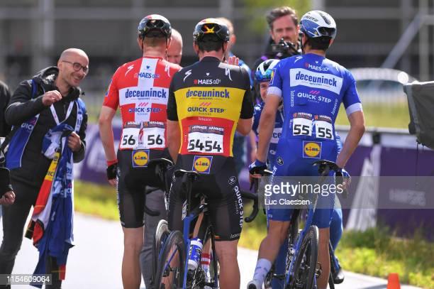 Arrival / Remco Evenepoel of Belgium and Team Deceuninck - Quick Step / Yves Lampaert of Belgium and Team Deceuninck - Quick Step / Davide Martinelli...