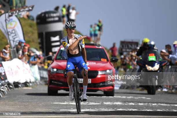 Arrival / Remco Evenepoel of Belgium and Team Deceuninck - Quick-Step / Celebration / during the 42nd Vuelta a Burgos 2020, Stage 3 a 150km stage...