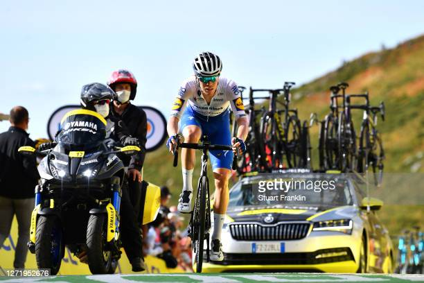 Arrival / Remi Cavagna of France and Team Deceuninck - Quick-Step / during the 107th Tour de France 2020, Stage 13 a 191,5km stage from Châtel-Guyon...