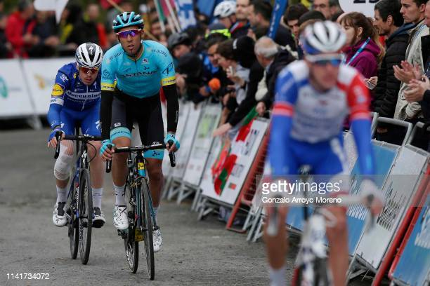 Arrival / Remi Cavagna of France and Team Deceuninck QuickStep / Omar Fraile of Spain and Astana Pro Team / during the 59th ItzuliaVuelta Ciclista...