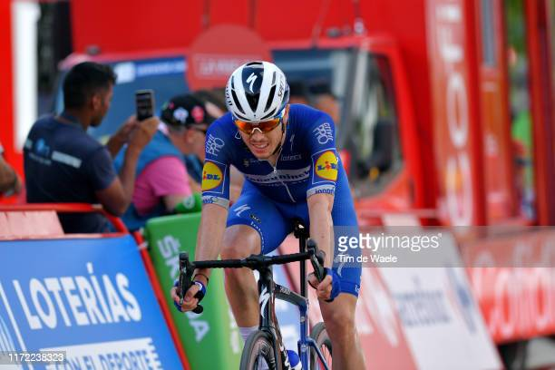 Arrival / Remi Cavagna of France and Team DeceuninckQuickStep / during the 74th Tour of Spain 2019 Stage 11 a 180km stage from Saint Palais to...
