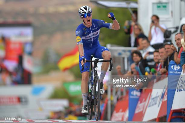 Arrival / Remi Cavagna of France and Team DeceuninckQuickStep / Celebration / during the 74th Tour of Spain 2019 Stage 19 a 1652km stage from Ávila...