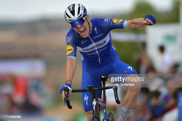 Arrival / Remi Cavagna of France and Team Deceuninck-QuickStep / Celebration / during the 74th Tour of Spain 2019, Stage 19 a 165,2km stage from...