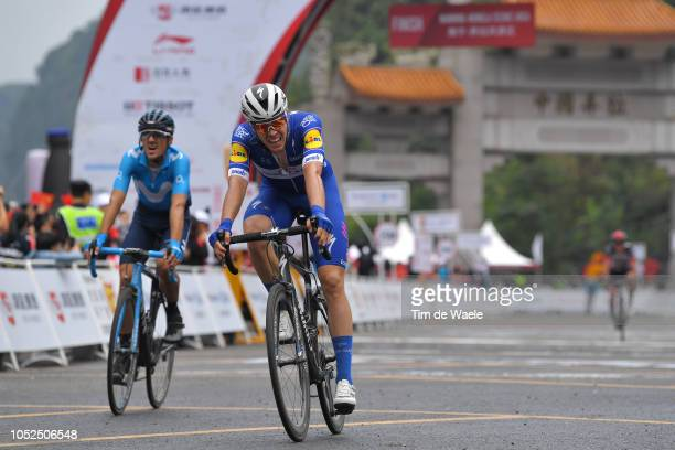 Arrival / Remi Cavagna of France and Team QuickStep Floors / during the 2nd Tour of Guangxi 2018 Stage 4 a 1522km stage from Nanning to Mashan...