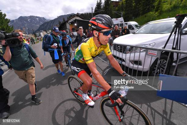 Arrival / Richie Porte of Australia and BMC Racing Team Yellow Leader Jersey / Nairo Quintana of Colombia and Movistar Team / during the 82nd Tour of...