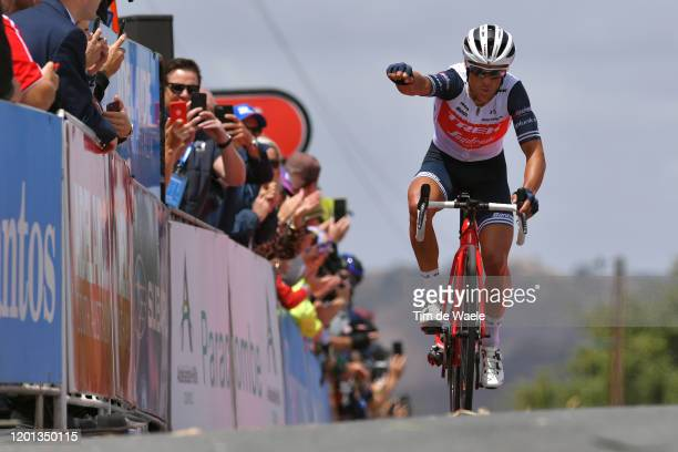 Arrival / Richie Porte of Australia and Team Trek-Segafredo / Celebration / during the 22nd Santos Tour Down Under 2020, Stage 3 a 131km stage from...
