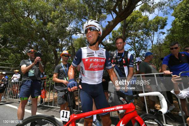 Arrival / Richie Porte of Australia and Team Trek-Segafredo / Celebration / during the 22nd Santos Tour Down Under 2020, Stage 6 a 151,5km stage from...