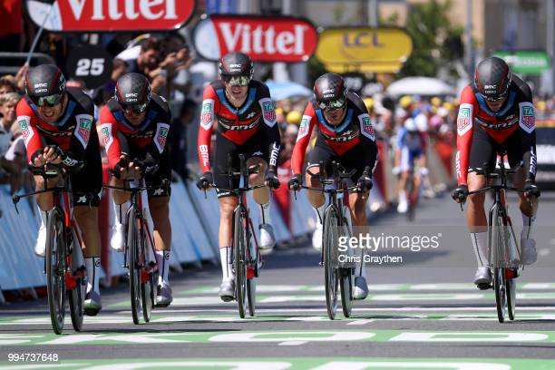 Arrival / Richie Porte of Australia / Patrick Bevin of New Zealand / Damiano Caruso of Italy / Simon Gerrans of Australia / Stefan Kung of...