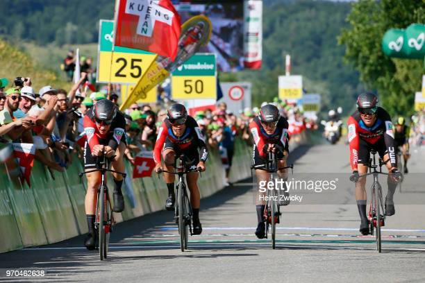 Arrival / Richie Porte of Australia / Simon Gerrans of Australia / Stefan Kung of Switzerlan / Alessandro De Marchi of Italy / Michael Schar of...