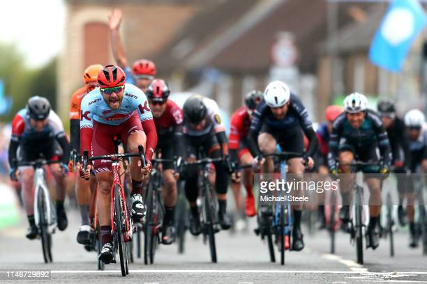 Arrival / Rick Zabel of Germany and Team Katusha Alpecin / Celebration / Boy Van Poppel of The Netherlands and Team Roompot-Charles / Christopher...