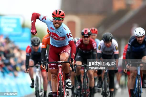 Arrival / Rick Zabel of Germany and Team Katusha Alpecin / Celebration / Boy Van Poppel of Netherlands and Team RoompotCharles / Christopher Lawless...