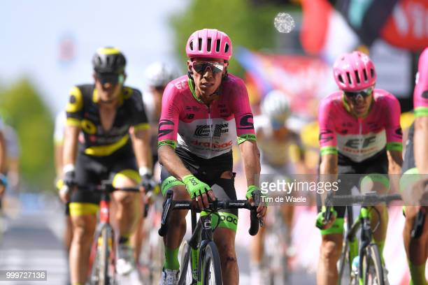 Arrival / Rigoberto Uran of Colombia and Team EF Education First Drapac P/B Cannondale / Disappointment / during the 105th Tour de France 2018 Stage...