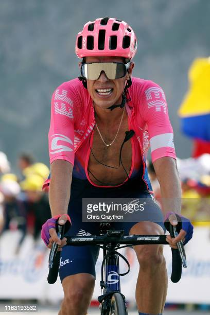 Arrival / Rigoberto Uran of Colombia and Team EF Education First / during the 106th Tour de France 2019, Stage 14 a 117km stage from Tarbes to...