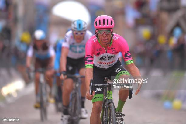 Arrival / Rigoberto Uran of Colombia / during the 53rd TirrenoAdriatico 2018 Stage 5 a 178km stage from Castelraimondo to Filottrano 269mon March 11...