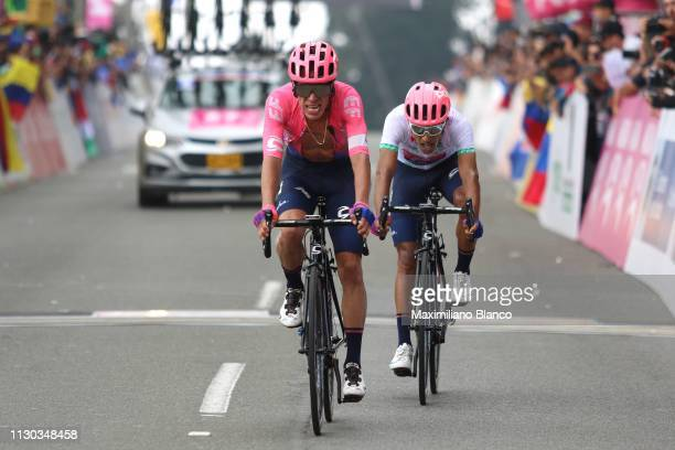 Arrival / Rigoberto Urán of Colombia and EF Education First Pro Cycling Team / Daniel Martínez of Colombia and EF Education First Pro Cycling Team...