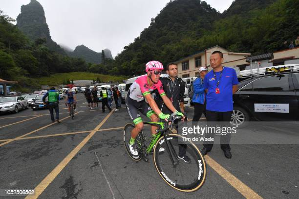 Arrival / Rigoberto Urán of Colombia and Team Education FirstDrapac P/B Cannondale / during the 2nd Tour of Guangxi 2018 Stage 4 a 1522km stage from...