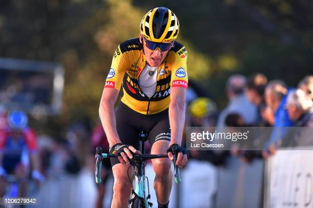 Arrival / Robert Gesink of The Netherlands and Team Jumbo-Visma / during the 5th Tour de La Provence 2020, Stage 2 a 174,9km stage from Aubagne to La...