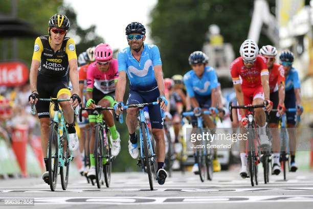 Arrival / Robert Gesink of The Netherlands and Team LottoNL - Jumbo / Jose Joaquin Rojas of Spain and Movistar Team / during the 105th Tour de France...