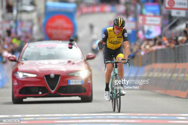 Arrival / Robert Gesink of The Netherlands and Team LottoNLJumbo / during the 101st Tour of Italy 2018 Stage 20 a 214km stage from Susa to Cervinia...