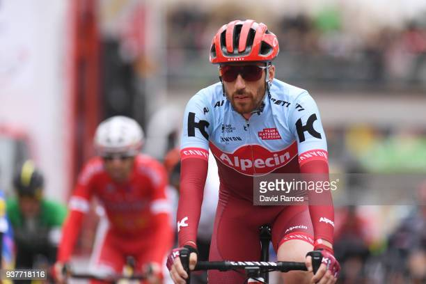 Arrival / Robert Kiserlovski of Croatia and Team KatushaAlpecin / during the 98th Volta Ciclista a Catalunya 2018 Stage 7 a 1548km stage from...